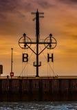 Coucher du soleil vers Bornholm Images stock