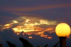 Coucher du soleil vrai image libre de droits
