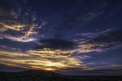 Coucher du soleil du Wyoming image libre de droits