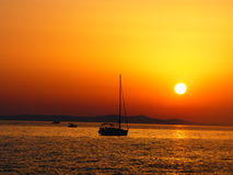 Coucher du soleil Zadar - en Croatie Photographie stock