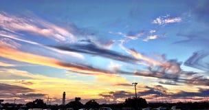 Couchers du soleil à Tampa, la Floride Image libre de droits