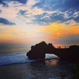 Couchers du soleil de Bali photo libre de droits