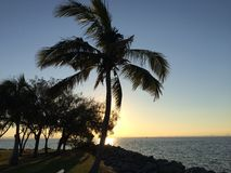 Couchers du soleil de Brisbane Images libres de droits