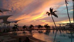 Couchers du soleil du Mexique Images libres de droits