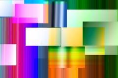 Couches abstraites de rectangle Photos libres de droits