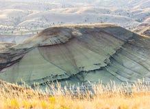 Couches colorées de collines et d'herbe peintes d'automne photographie stock libre de droits
