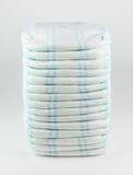 Couches-culottes de bébé sur un fond blanc Image libre de droits