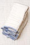 Couches-culottes de tissu Photos stock