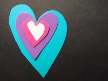 Couches de coeur Photo libre de droits