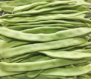 Couches de haricots verts Photo stock