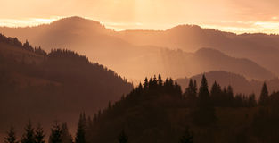 Couches de montagne Photo stock