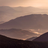 Couches de montagne Photo libre de droits