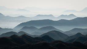 Couches de montagne près d'Udaipur, Ràjasthàn Photos libres de droits