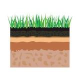 Couches de sol avec l'herbe illustration de vecteur