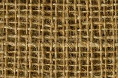 Couches de tissu de jute d'en haut Image libre de droits