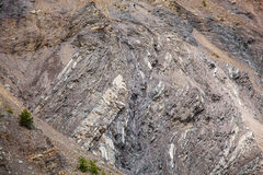 Couches géologiques de roche Photos libres de droits