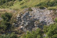 Couches nues de la croûte sur la montagne de Lisaya, Russie Photographie stock libre de droits
