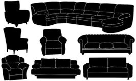 Couches Stock Image