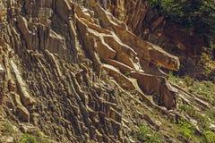 Couches tectoniques de roche Photo libre de droits