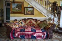 Couchez dans le lobby de l'hôtel de cintreuse à Laredo le Texas photo stock