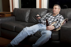 Couchkartoffel Stockfotografie