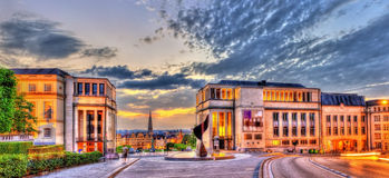 Coudenberg hill in Brussels in the evening. Belgium Stock Photography