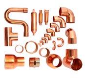 Coudes de cuivre Photos stock