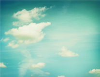 Couds in blue sky.  Nature background Stock Image