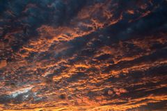 Cloudy sky at sunset royalty free stock photo