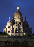 couer wieczór Paris sacre Fotografia Stock