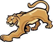 cougar γραφική μασκότ σωμάτων Στοκ εικόνα με δικαίωμα ελεύθερης χρήσης