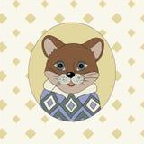 cougar Beeld voor kleren, kaarten Stock Foto