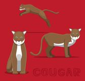 Cougar Cartoon Vector Illustration. Animal CHaracter EPS10 File Format Stock Photography