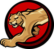 Cougar Mascot Body Graphic Stock Photo