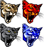 Cougar / Panther Mascot Logo. Vector Images of Cougar / Panther Mascot Logos Royalty Free Stock Photos