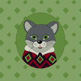 Cougar. Picture for clothes. Cards, covers, children`s books Royalty Free Stock Photo