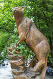 Cougar statue in the woods Stock Photos