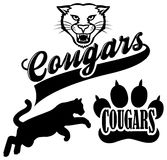 Cougar Team Mascot royalty free illustration