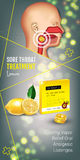 Cough Drops ads. Vector 3d Illustration with lemon pills for throat. Stock Images