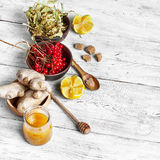 Cough fruits and ingredients Stock Photo