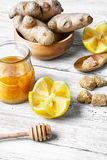 Cough fruits and ingredients Royalty Free Stock Images