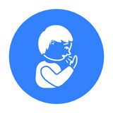 Cough icon black. Single sick icon from the big ill, disease black. Royalty Free Stock Photography