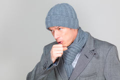 Cough man Stock Photos