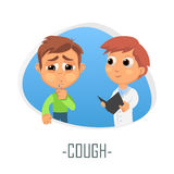 Cough medical concept. Vector illustration. Stock Photo