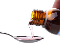 Cough syrup Royalty Free Stock Photo
