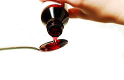 Cough syrup Stock Image