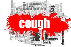 Cough word cloud design Royalty Free Stock Photography