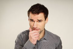 Coughing handsome man Royalty Free Stock Image