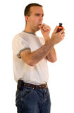Coughing Man Royalty Free Stock Photos