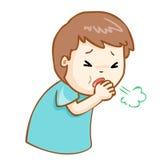 Coughing man cartoon  illustration Royalty Free Stock Photos